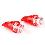 cheap LED Car Bulbs-T10 1-LED Red Light Bulb for Car Lamp (DC 12V, 2-Pack)