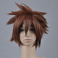 tanie Kostiumy i cosplay-Peruki Cosplay Kingdom Hearts Sora Brązowy Short Anime / Gry Video Peruki Cosplay 30 CM Włókno termoodporne Męskie