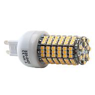 olcso LED betűzős izzók-2800 lm G9 LED kukorica izzók T 138 led SMD 3528 Meleg fehér AC 220-240V