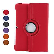 Para Funda Samsung Galaxy con Soporte / Flip / Rotación 360º Funda Cuerpo Entero Funda Un Color Cuero Sintético Samsung Tab 2 10.1
