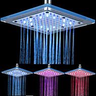 abordables Decoración del Hogar-8-pulgadas de 12-LED de techo de acrílico Square Shower Head (colores surtidos)
