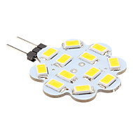 abordables US Almacén-1W 100-150lm G4 Luces LED de Doble Pin 12 Cuentas LED SMD 5630 Blanco Cálido 12V