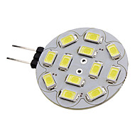 1.5w g4 led spotlight 12 smd 5730 200lm blanco natural 6000k dc 12v