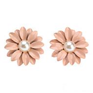 お買い得  -女性用 真珠 スタッドピアス - 真珠 フラワー, デイジー かわいいスタイル ピンク 用途 日常