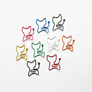 abordables Papelería-estilo gato colorido clips (color al azar, 10-pack)