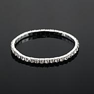 sjajni ženski rhinestone svadbeni tenis u elegantnom stilu srebra