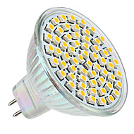 3W GU5.3 (MR16) LED-spotlampen MR16 60 LEDs SMD 3528 Warm wit 2800lm 2800KK DC 12V