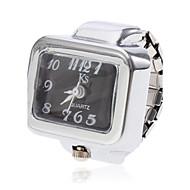 abordables Relojes Anillo-Mujer Reloj de Anillo Cuarzo Reloj Casual Aleación Banda Encanto Plata - Blanco Negro Un año Vida de la Batería / SSUO SR626SW