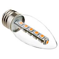 E26/E27 Luzes de LED em Vela C35 16 SMD 5050 180 lm Branco Quente 2800K K Decorativa AC 220-240 V