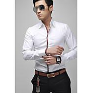 Magros camisa de manga longa com detalhes de tubulação