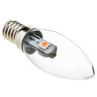 0.5w e14 doprowadziło światło świecowe c35 3 smd 5050 15-30lm ciepłe białe 2800k dekoracyjne ac 220-240v
