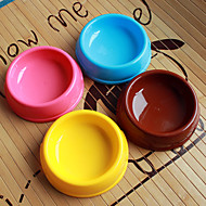 cheap -Circle Shape Plastic Pet Food Bowl for Dogs Cats (Assorted Colors, Sizes)
