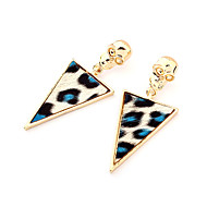 Triangle Leopard Print Skull Earrings(Assorted Color)
