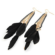 cheap -Women's Drop Earrings - Fashion Black Feather Wings / Feather Earrings For Party Daily