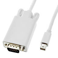 ieftine -Thunderbolt Male la VGA Masculin cablu alb pentru MacBook Air / MacBook Pro / iMac / Mac mini (1.8M)