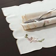 """Χαμηλού Κόστους -16 """"X16"""" Modern Style White Loyus Floral Χαρτοπετσέτες"""