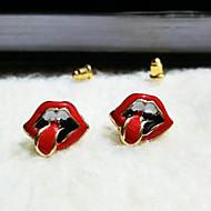 Недорогие $0.99 Модное ювелирное украшение-Жен. Серьги-гвоздики - Губы Мода Красный Назначение Повседневные