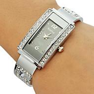 Femme Montre Tendance Bracelet de Montre Quartz Imitation de diamant Alliage Bande Etincelant Rigide Argent