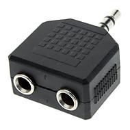 abordables €0.99-3.5mm macho a hembra adaptador de Split Audio Dual
