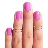 Недорогие $0.99 Модное ювелирное украшение-Жен. Кольцо - Медь Мода 5 Золотой / Серебряный Назначение Повседневные