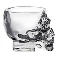 Mini calavera de cristal taza cabeza vodka vidrio tiro mercancías de la bebida de whisky para la barra casera