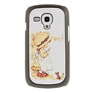 Fair Girl Tegning mønster beskyttende Hard Back Cover Case til Samsung Galaxy Trend Duos S7562