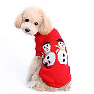 Dog Sweater Dog Clothes Woolen Winter Cute Keep Warm Christmas Solid Costume For Pets