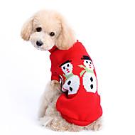 Kutya Pulóverek Kutyaruházat Bájos Melegen tartani Karácsony Tömör Jelmez Háziállatok számára