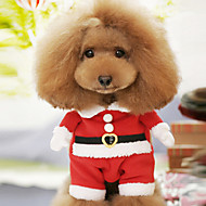 cheap Pet Supplies Accessories-Dog Costume Dog Clothes Cartoon Red Cotton Costume For Pets Men's Women's Cute Cosplay Christmas