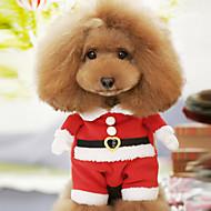 abordables Disfraces de Navidad para mascotas-Perro Disfraces Ropa para Perro Caricatura Rojo Algodón Disfraz Para mascotas Hombre Mujer Bonito Cosplay Navidad