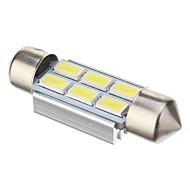 Недорогие Внешние огни для авто-Фестон Автомобиль Холодный белый 2 Вт. SMD 5730 6000Лампа подсвета приборной доски Лампа освещения номерного знака Лампы сигнала поворота