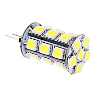 abordables Daiwl-370lm G4 Bombillas LED de Mazorca T 24 Cuentas LED SMD 5050 Blanco Fresco 12V