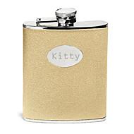 abordables Copas y Vasos Personalizados-regalo del día de salpicaduras de oro de padre personalizado 8 oz frasco de cuero de la PU