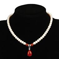 Жен. Жемчужные ожерелья Рубин Свисающие Жемчуг бижутерия Бижутерия Назначение