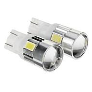 T10 Blanco Frío 1W SMD 5730 6000 Luz Instrumental Luz Para La Placa del Coche Luz de Direccional Luz de Freno