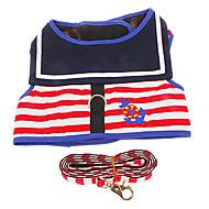 お買い得  -犬用品 ハーネス 調整可能/引き込み式 レッド 織物