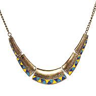 رخيصةأون -نسائي قلادات ضيقة قلادة خمر موضة أزرق وأصفر قلادة مجوهرات من أجل مناسب للحفلات مناسب للبس اليومي