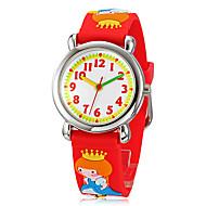 baratos -Crianças dos desenhos animados 3D Princesa Padrão Silicone Banda Little Round Dial Analog de quartzo relógio de pulso