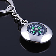 cheap Customized Prints and Gifts-Personalized Engraved Gift Round Compass Shaped Keychain