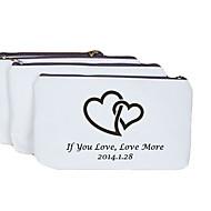 povoljno Pozivnice i papirna konfekcija-Personalizirani dar srca Pattern Kremasta Canvas novčanik