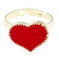 Недорогие $0.99 Модное ювелирное украшение-Жен. Кольцо - Сплав Сердце Регулируется Белый / Черный / Красный Назначение Для вечеринок / Повседневные