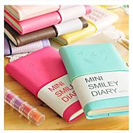 abordables Gran promoción para el hogar-Mini cara de la sonrisa del cuaderno diario de colores (color al azar)