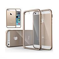 abordables Offres Spéciales Cadeaux-Coque Pour iPhone 5 Coque iPhone 5 Transparente Coque Couleur unie Dur PC pour iPhone SE / 5s / iPhone 5