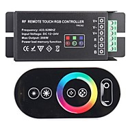 abordables Accesorios para Tiras LED-TRC02 RF Remote Touch RGB Controller para RGB LED-Negro (433.92 288W DC 12 ~ 24V)
