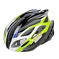 저렴한 -FJQXZ 일체형 성형 EPS + PC 녹색 자전거 헬멧 (21 통풍구)