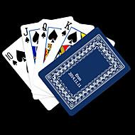 ポーカー用のカードを再生するパーソナライズされたギフトブルーつるパターン