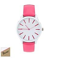 voordelige Gepersonaliseerde horloges-Gepersonaliseerde Gift Vrouwen White Dial Candy Kleur Pu band Analog gegraveerd horloge (verschillende kleuren)