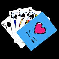 ポーカー用のカードを再生するパーソナライズされたギフトブルーハート柄