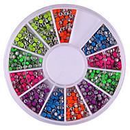 2mm Mixed Color Roundness Rivet Nail Art Decorations