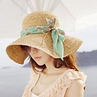 Женская мода Ткань бантом пляж Hat